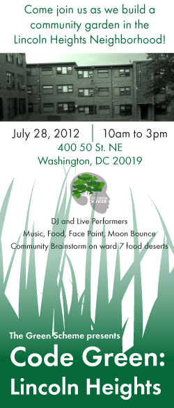 Join us as we build a community garden in the Lincoln Heights Neighborhood