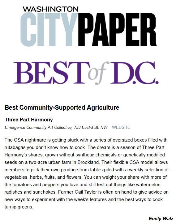 Best of DC Community Supported Agriculture CSA